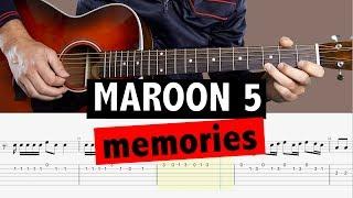Baixar Maroon 5 - Memories // Guitar Tutorial + TAB + BACKING TRACK (MELODY)