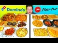 DOMINO'S vs. PIZZA HUT - Full Menu Restaurant Taste Test!