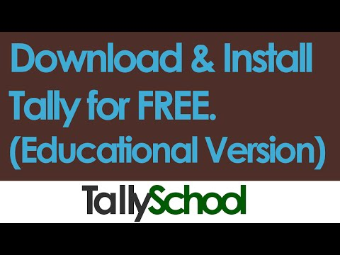 Download and Install Tally for free - 2016