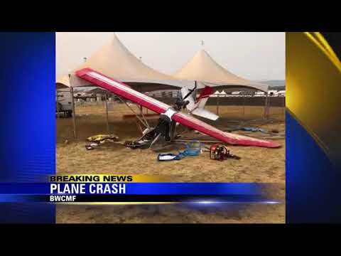 Airplane crashes at Bi-Mart Willamette Country Music Festival