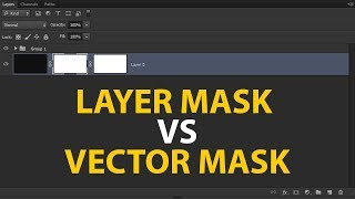 Layer Mask and Vector Mask Complete Concept in Photoshop | How to Use Vector Mask