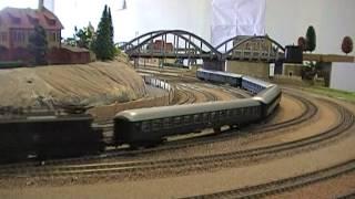 Trains miniatures - Circulations sur le réseau fixe Mériller Vapeur  - Kangourous REE