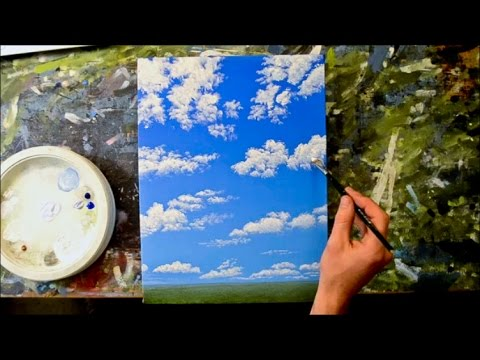 How to Paint a Cloudy Blue Sky