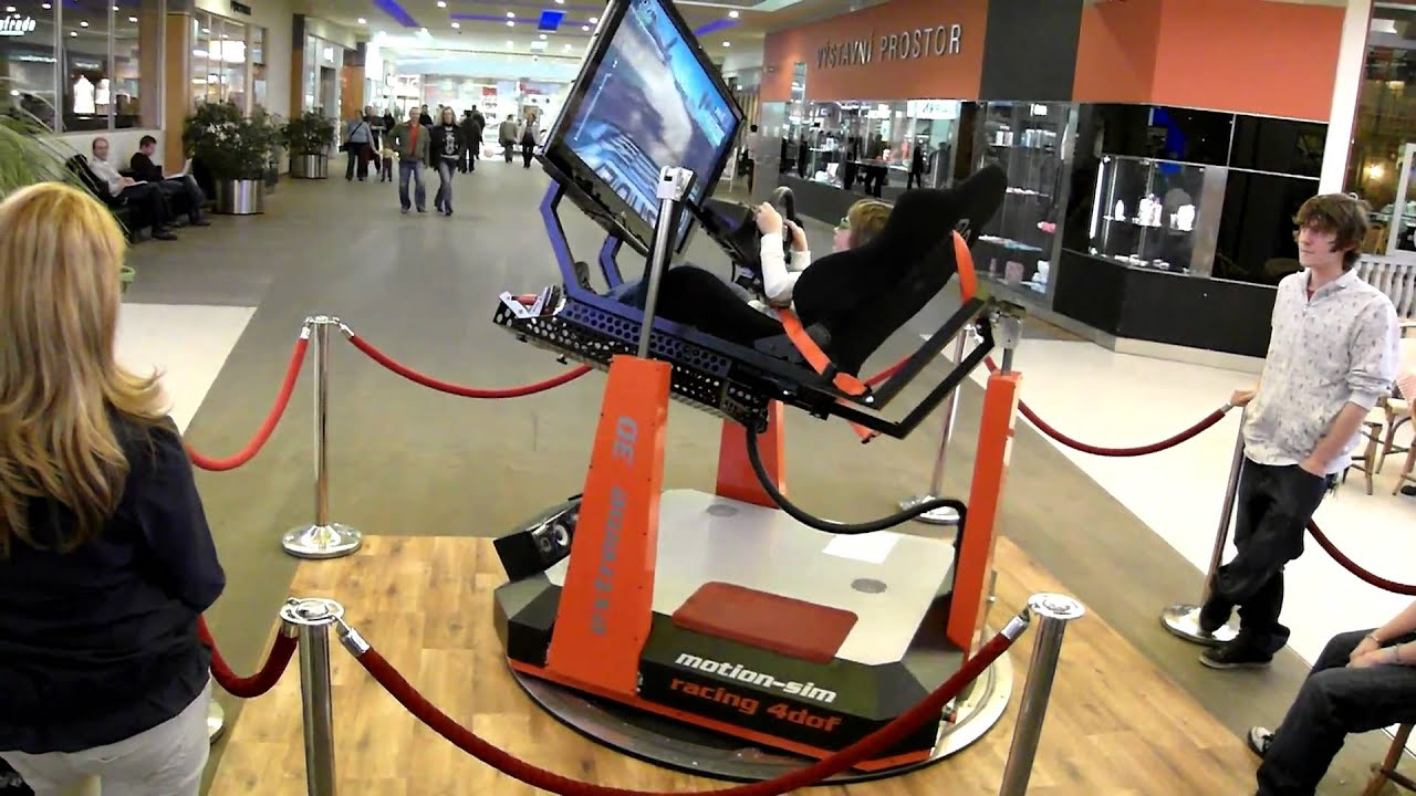 Motion Sim Car Simulator In Shoping Center Youtube