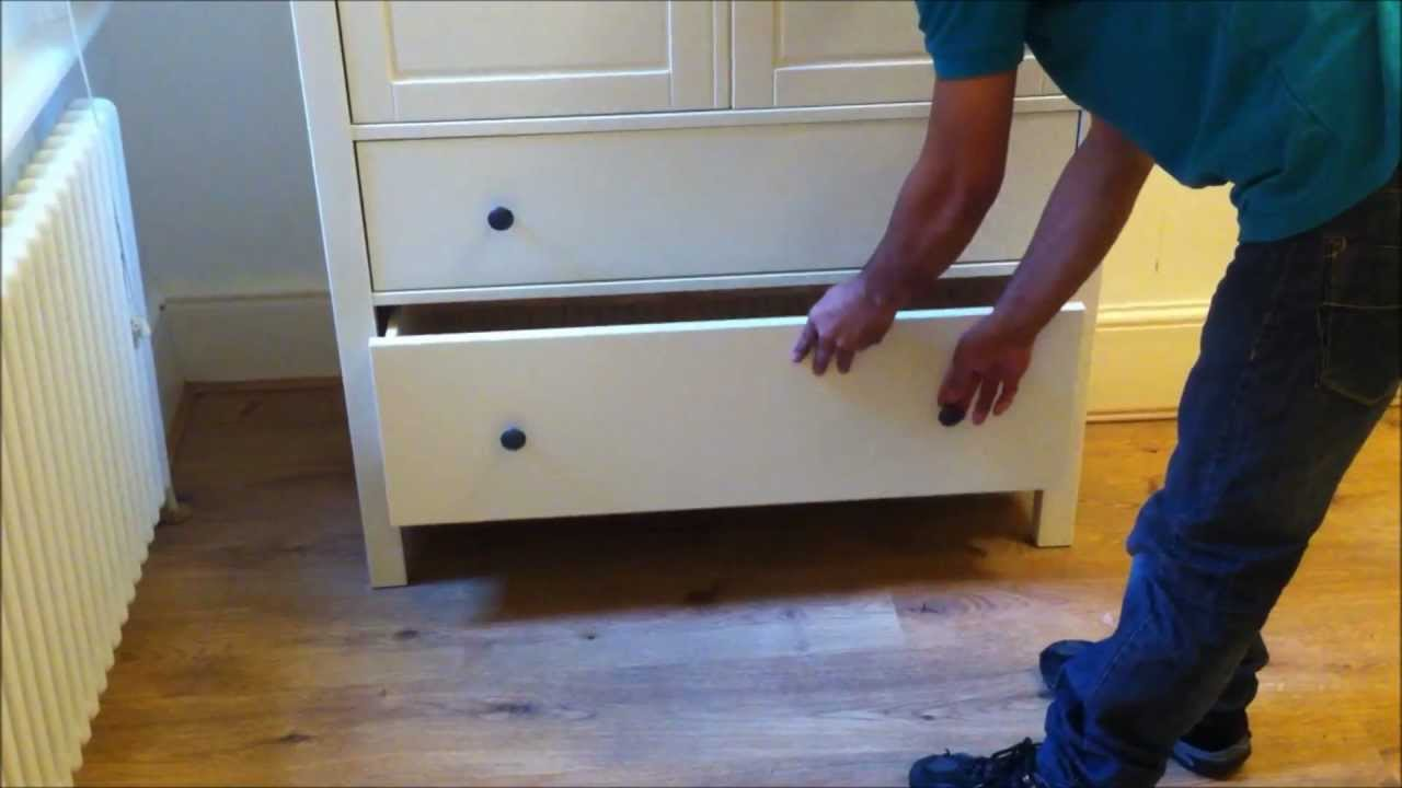 Ikea Flaxa Bed With Storage ~ IKEA Hemnes 2 Doors 2 Drawers Wardrobe Design  YouTube