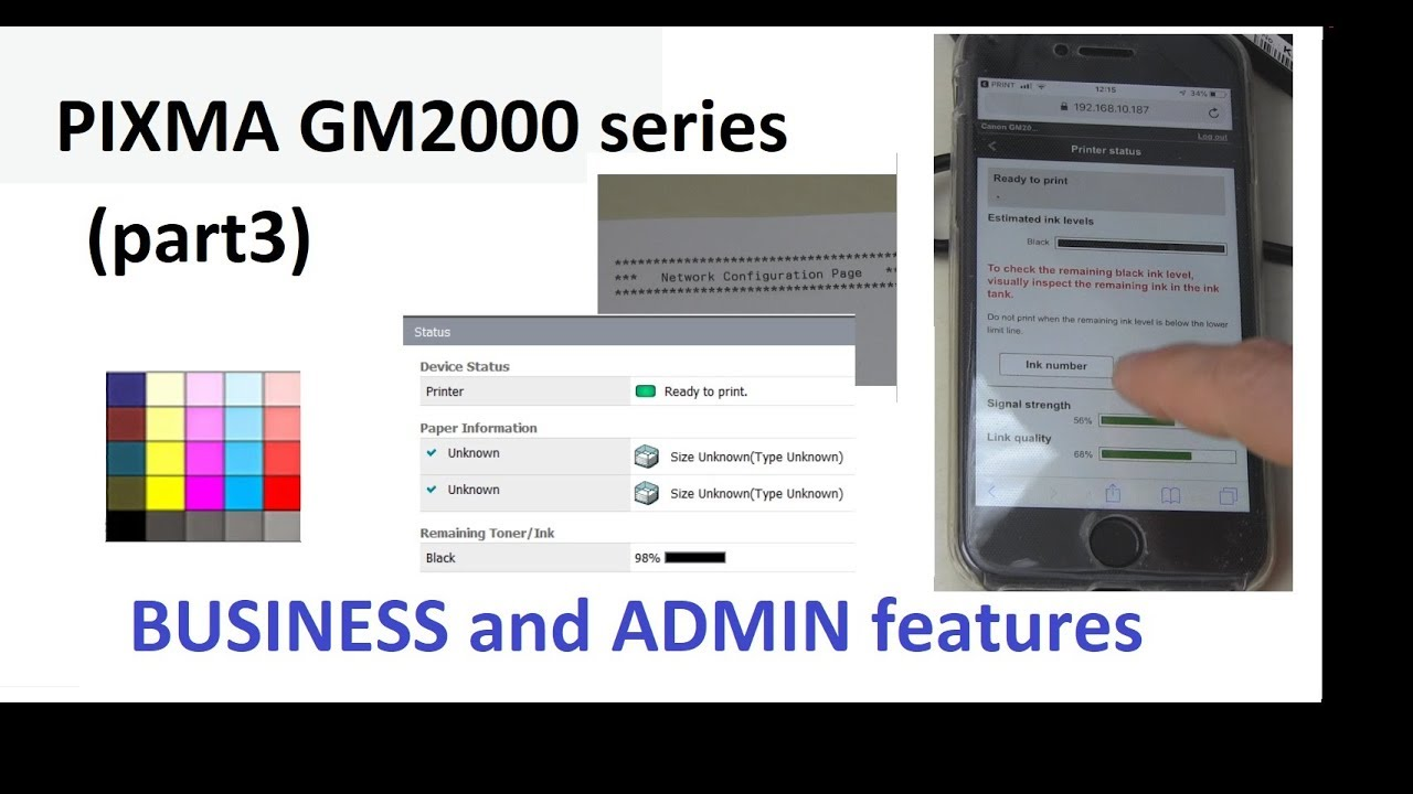 PIXMA GM2000 GM2040 GM2050 (part3) - Business and Admin Features