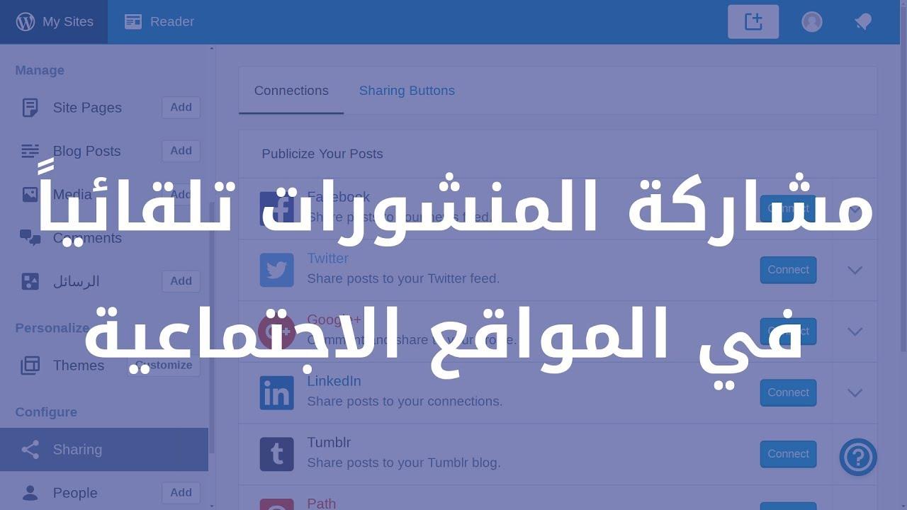 كيف أقوم بنشر منشورات ووردبريس في المواقع الاجتماعية؟ (مع تعليق قصير)