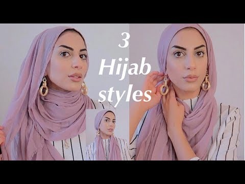 3 Hijab Styles Using Maxi Scarf With Earrings! - YouTube