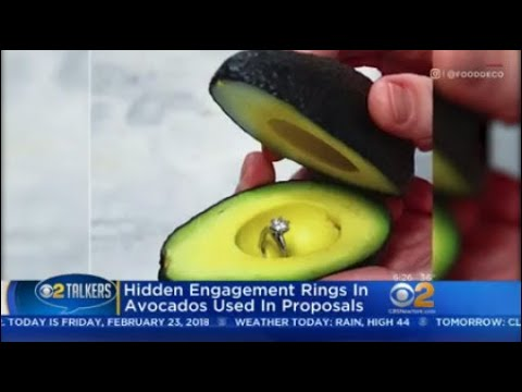 Hidden Engagement Rings In Avocados Used In Proposals