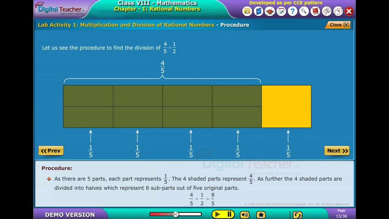 DIGITAL TEACHER ECONTENT Class VIII English Mathematics Lab Activity ...