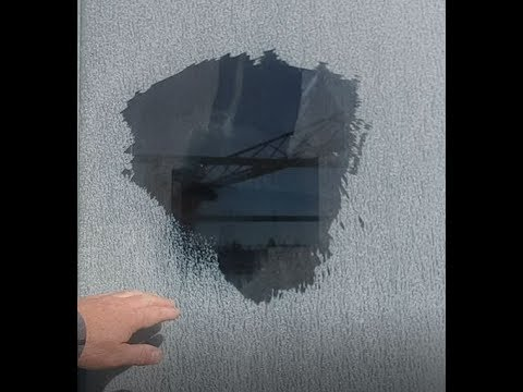Severe Glass Mineral Water Stain Restoration - YOU WILL Be Amazed