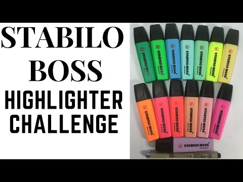 Highlighter Challenge with Stabilo Boss