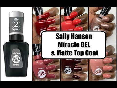 Sally Hansen Miracle Gel | Swatches on WOC