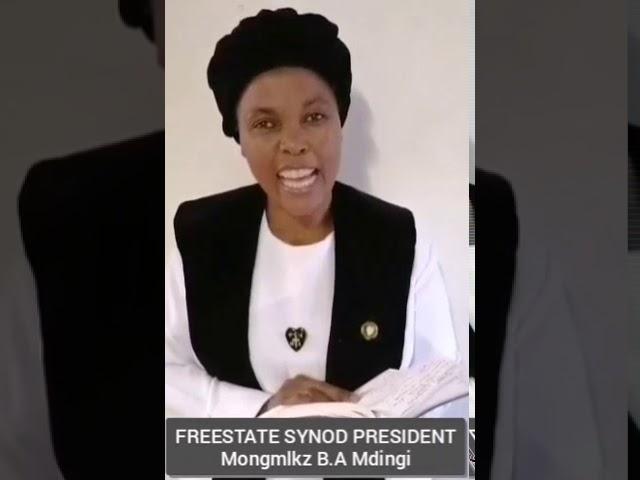 Freestate Synod President - Mongmlkz B.A Mdingi (Intshumayelo 2020-2021)