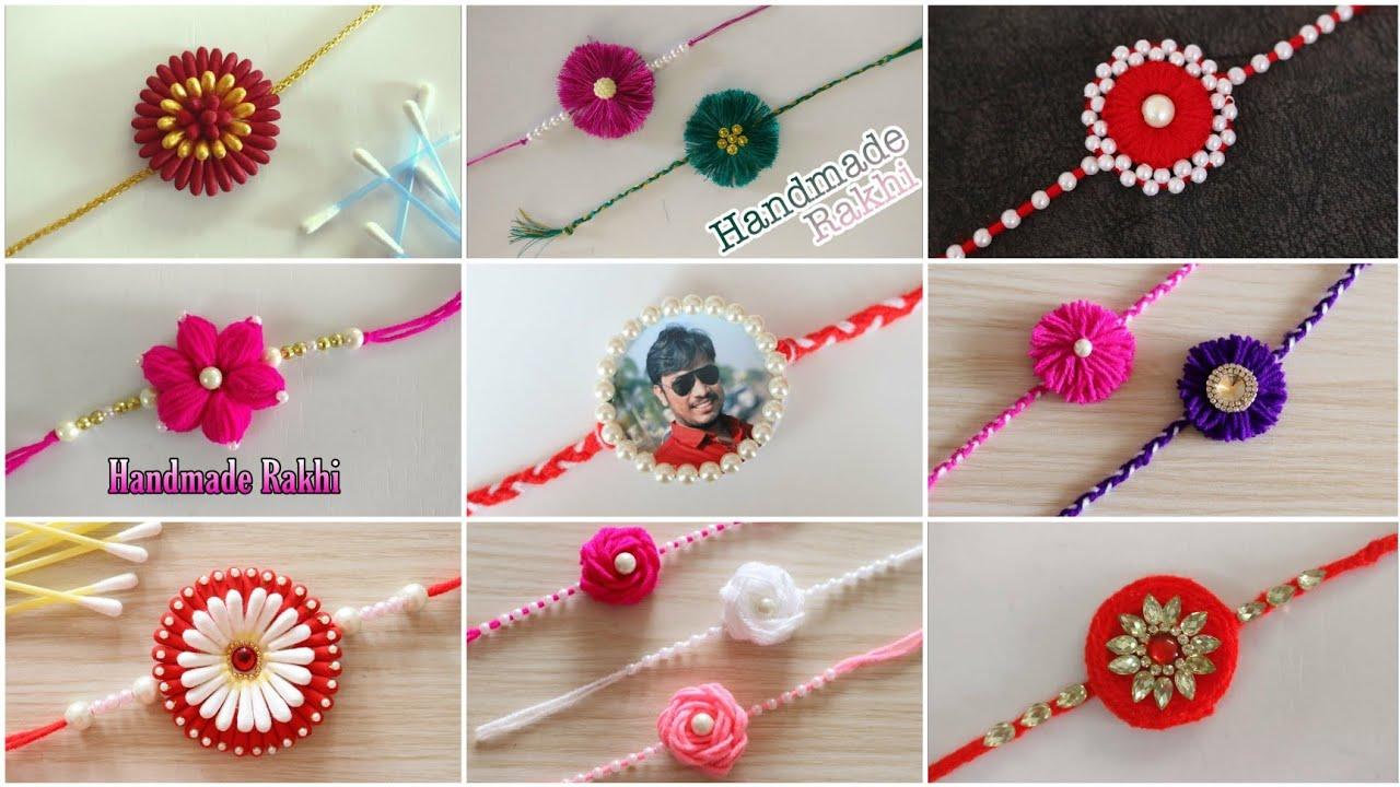 Best 9 Easy And Beautiful Rakhi Making | DIY | DIY Rakhi | Handmade Rakhi