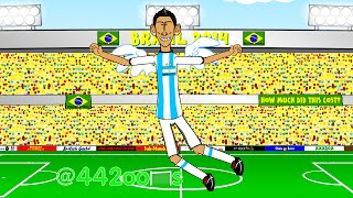 🇦🇷ARGENTINA vs SWITZERLAND 1-0🇨🇭 by 442oons (1.7.14 Angel Di Maria World Cup Cartoon)