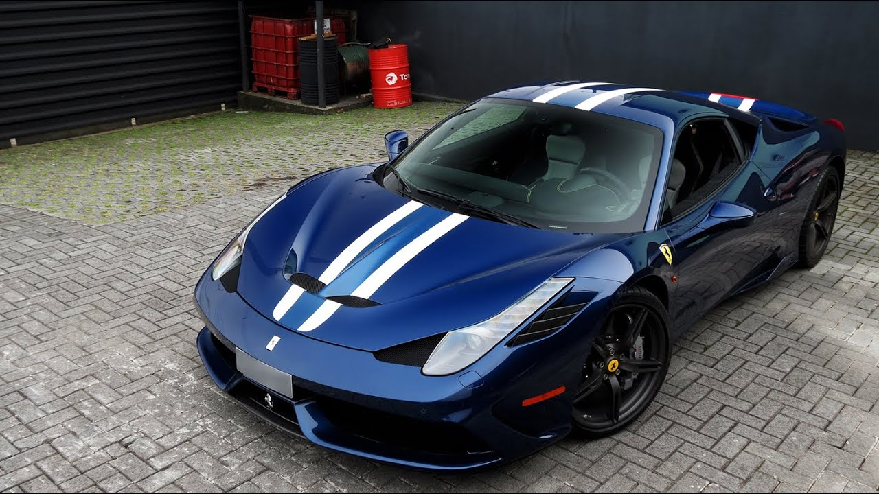 Onboard - Ferrari 458 Speciale Blu Tour de France - YouTube