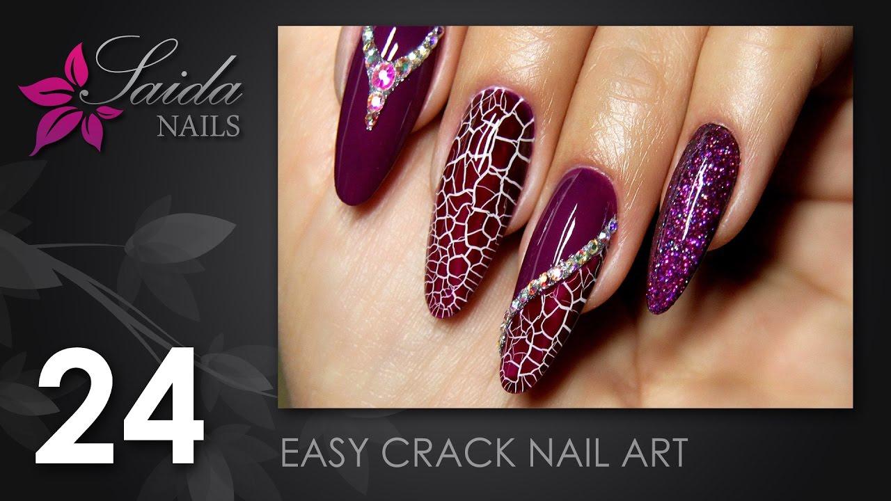 Easy Crack-Nailart #1 (Saida Nails   Nailart leicht gemalt) - YouTube