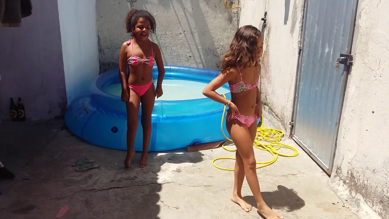 Desafio da piscina 😅😅😅