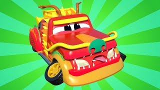 Truck videos for kids -  CHINESE NEW YEAR : Super CARRIER TRUCK helps the DRAGON - Super Truck !
