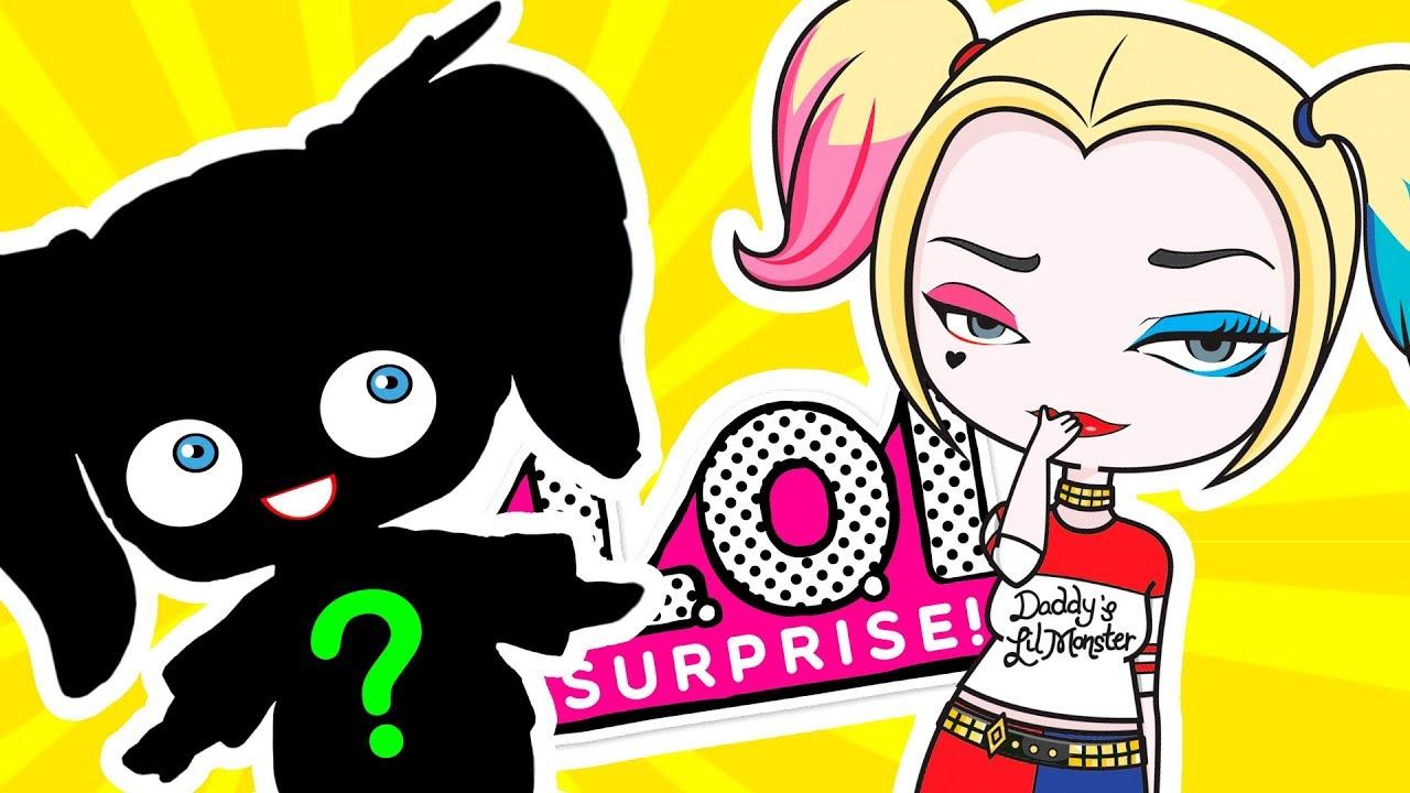 Lol Harley Quinn Like A Movie And A Cartoon Lol Surprise Custom Doll Diy Lol Dolls Videos