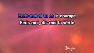 Karaoké Ecris-moi - Pierre Bachelet *