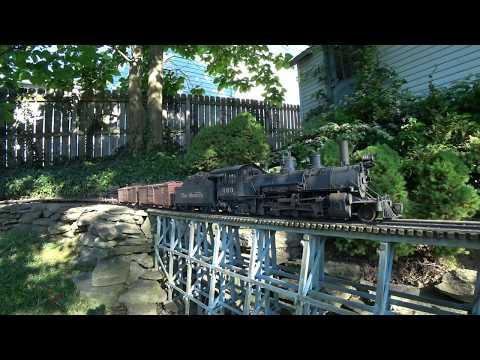 Garden Railroad Rio Grande K-27 Climbing The Grade 1:20 scale