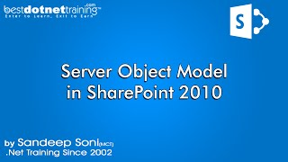 Server Object Model in SharePoint - SharePoint 2010 - Part 18