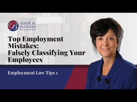As an experienced employment law attorney, Adair Buckner has seen plenty of mistakes made by Texas employers. One of the most common mistakes is falsely classifying your employees as either salary employees or contract workers when they should actually be an hourly employee. Saving money now on employee payroll may cost your company big time in the long run. It is always better to do things correctly the first time around.