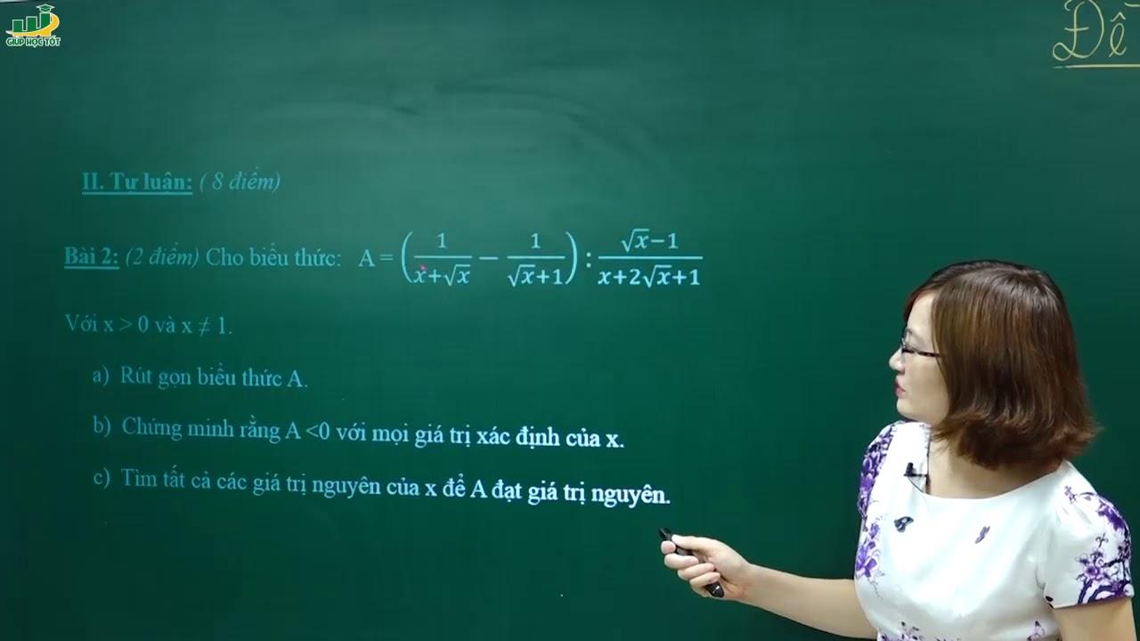 Toán Lớp 9 – Đề thi kiểm tra khảo sát giữa học kì 1 môn Toán lớp 9 | hk1 | hk 1 – Đề số 3