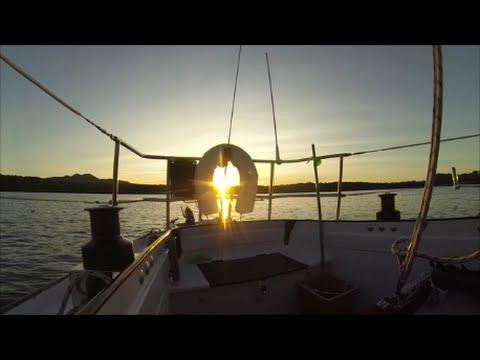 Winter sailing to Rangitoto Volcano - single handed