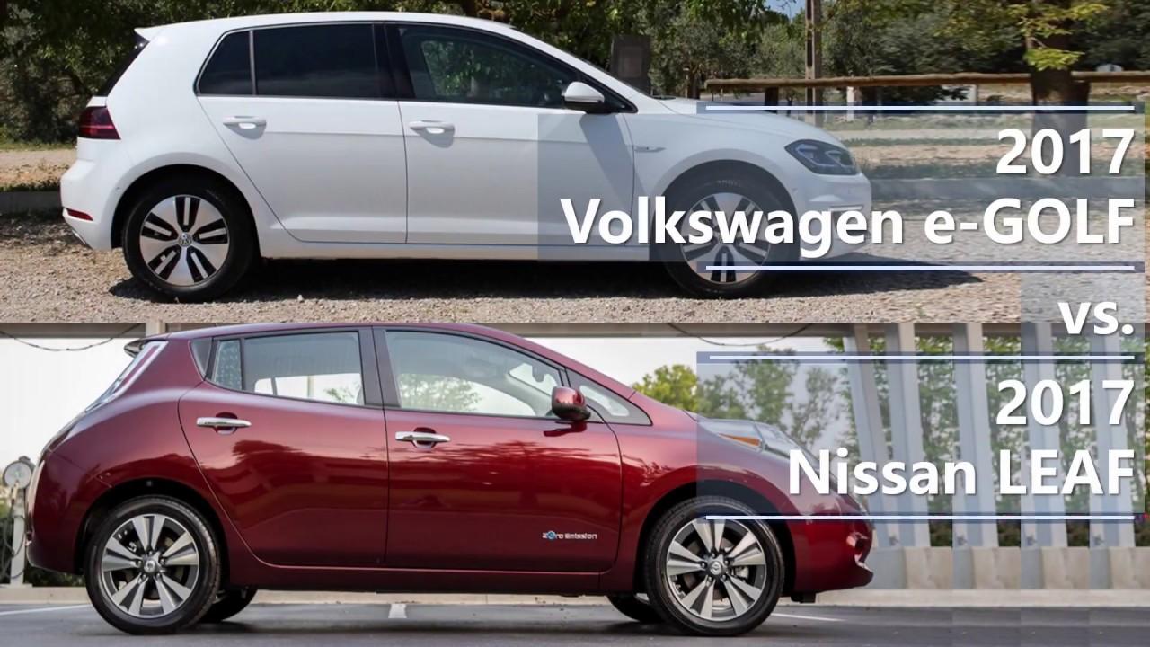 2017 volkswagen e golf vs 2017 nissan leaf technical. Black Bedroom Furniture Sets. Home Design Ideas