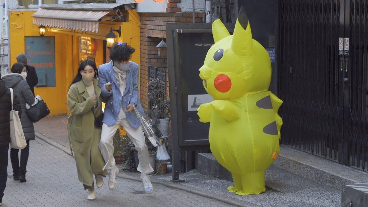 ピ◯チュウが突然動き出すドッキリ / Pokémon Pikachu Prank in Japan Part.1