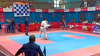 Mayuresh Gujare, International Level Championship, Karate Fight, Kathmandu, Nepal.