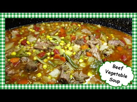 The Best Homemade Beef Vegetable Soup ~ One Pot Power Souping Recipe