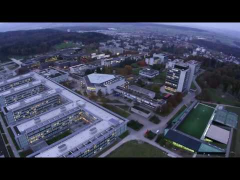 ETH Zurich and city from drone III