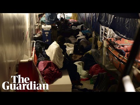 Cramped conditions on migrant rescue ship revealed