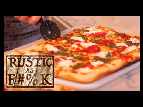 How to Make Grandma Pizza 2 Ways! - Rustic As F#%K