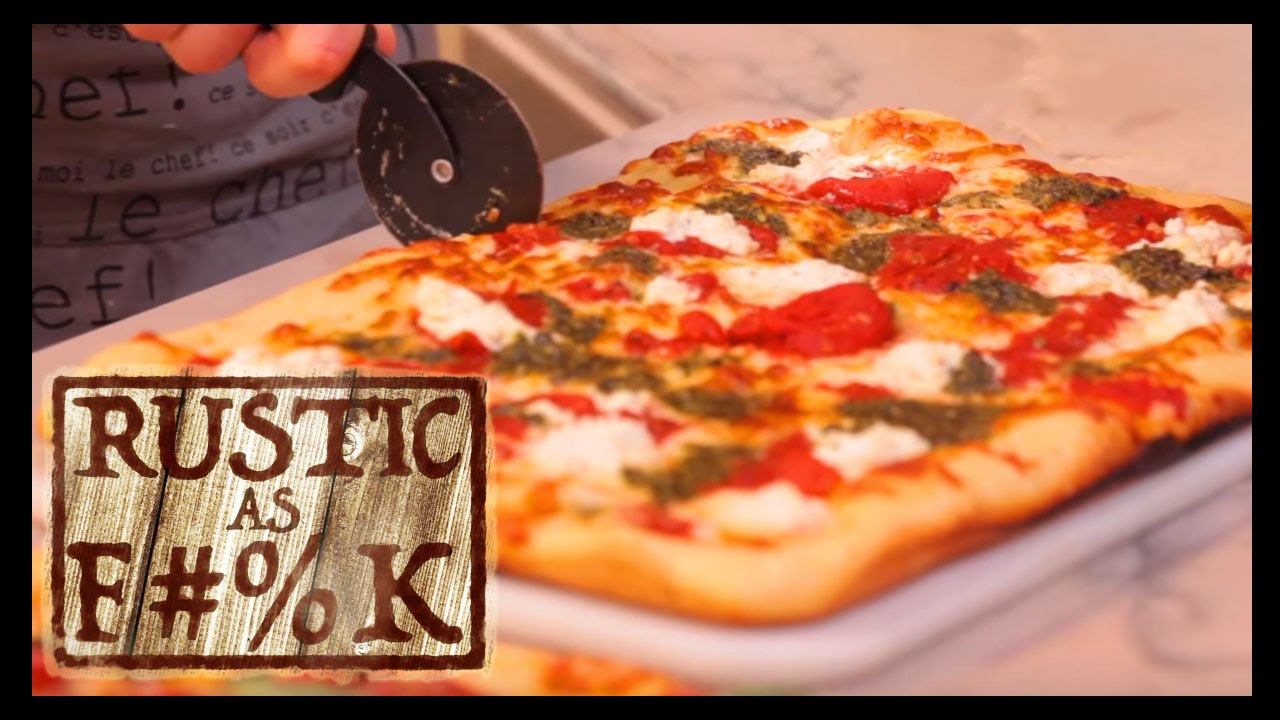 How To Make Grandma Pizza 2 Ways Rustic As F K Youtube