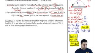 Finding Initial Velocity iฑ Projectile Motion
