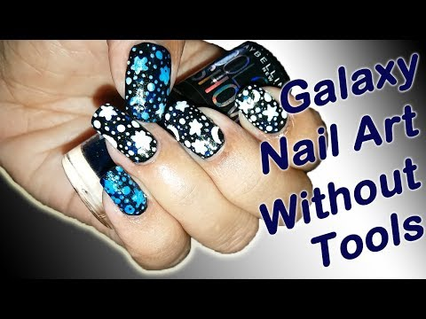 Galaxy Nail Art Tutorial | Without Tools | For Beginners | Fab Nails thumbnail