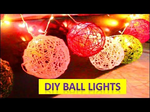 DIY Diwali Decoration Ideas | DIY Room Decorations! | DIY Cotton ball lights Diwali 2017