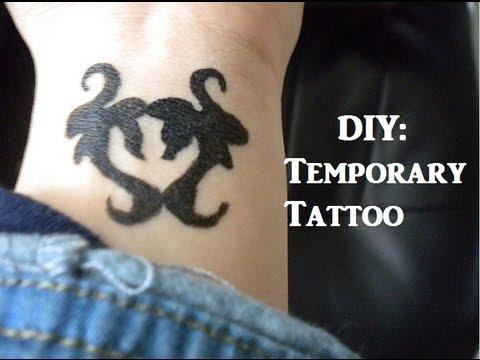 DIY: Easy Temporary Tattoo - YouTube