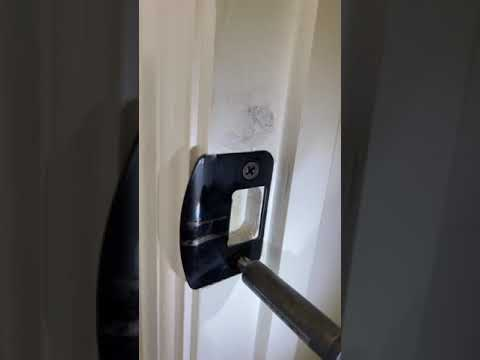 How to fix a door that's rubbing on the jamb.