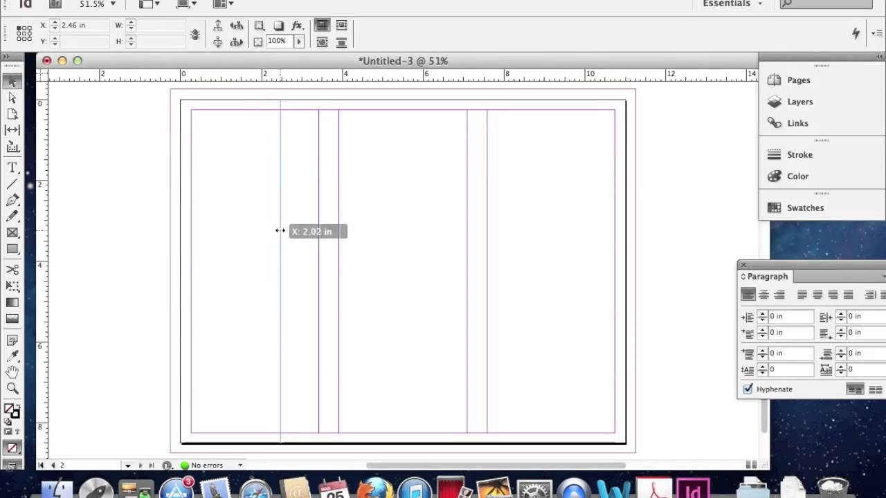creating a trifold brochure in adobe indesign youtube