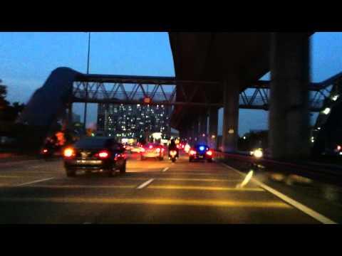 Malaysian Special Branch Motorcade Escort