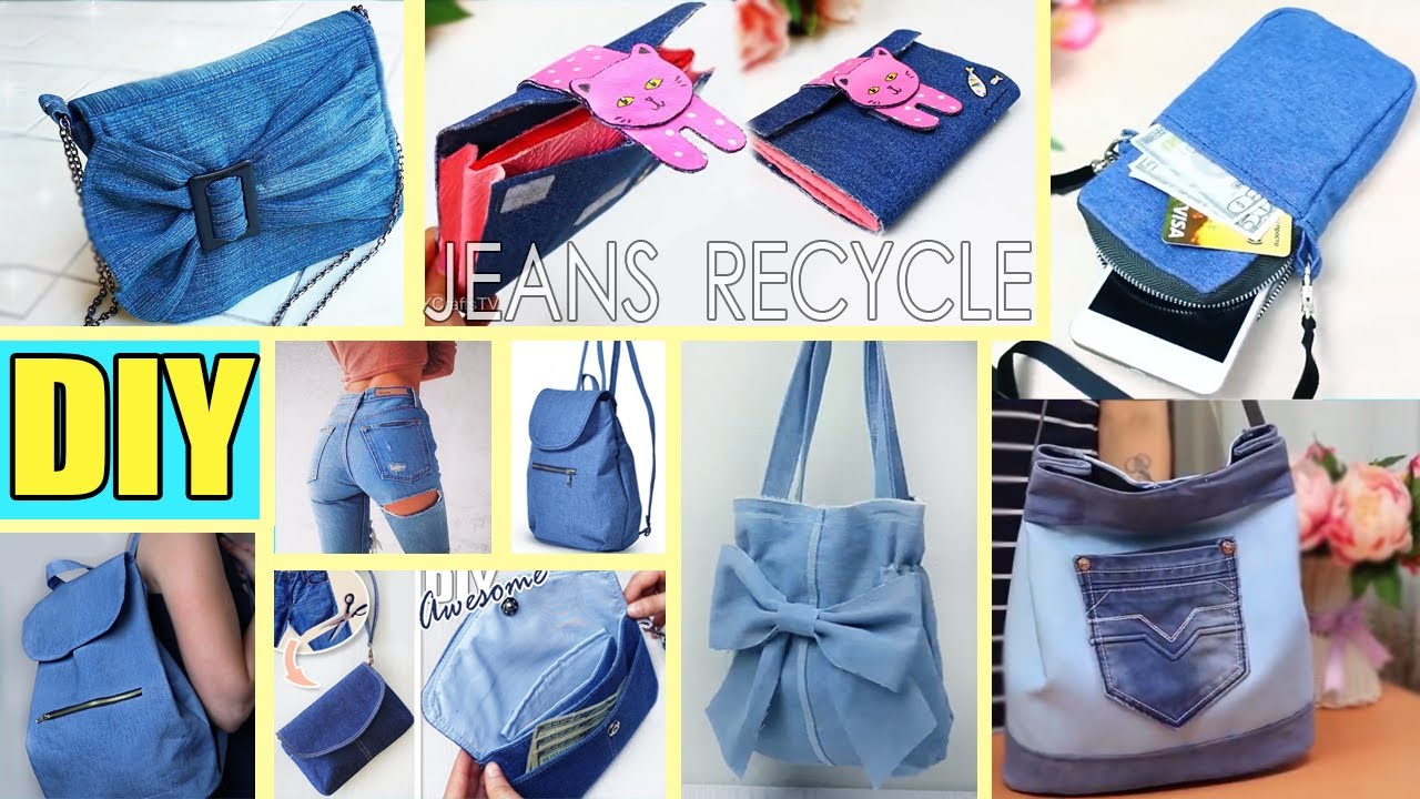 8 FANTASTIC DIY OLD JEANS RECYCLE IDEAS 2020 // How to Sew New Things From old Jeans