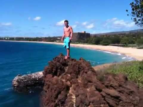 Maui Black Rock Cliff Jump Youtube