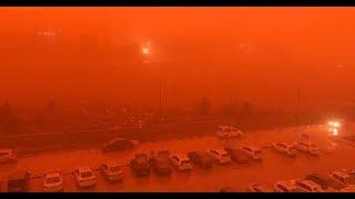 Скачать Vídeo El Cielo Se Vuelve Rojo Sangre En Iraq 20 De Febrero 2018
