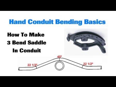 Conduit Bending Basics 3 Bend Saddle - YouTube